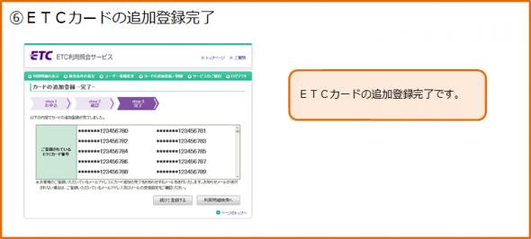 ETCカードの追加登録手順6