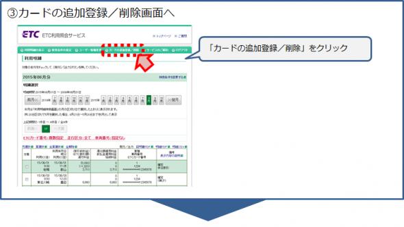 ETCカードの追加登録手順3