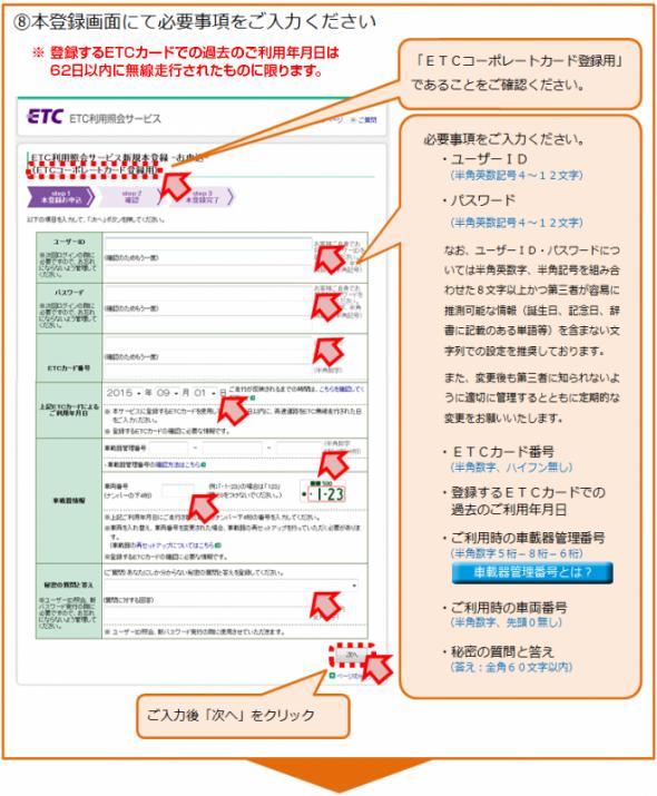 新規登録の手順8